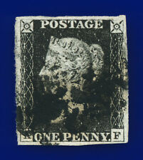 1840 SG2 1d Black Plate 6 AS41 AF 4 Fine to Superb Margins Cat £375 ceni