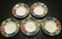 """(5) Victoria & Beale FORBIDDEN FRUIT 8 3/4"""" Rim Soup Bowls *****"""