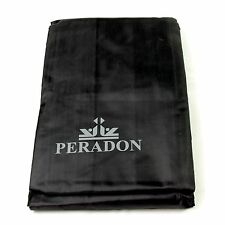 PERADON BLACK 6ft FITTED Snooker & Pool Table Dust Cover