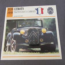 491C Edito Foglio Di Servizio Pieghevole Citroën 11 CV Cabrio