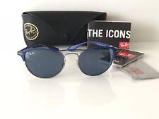 6118202edc1 NWT Ray Ban Sunglasses RB 3596 9005 80 Gunmetal on top Matte Blue Frame  Italy