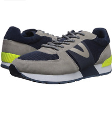 Tretorn Men's LOYOLA 8 Sneaker | Grey/ Navy/Yellow | 11.5 M US
