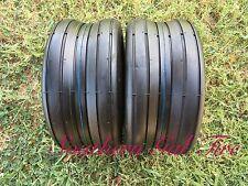 Two 13x5.00-6 Deestone D837 Rib 4ply 13/500-6 Lawn Mower Tractor Tire 135006