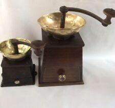 2 Kaffeemühle n  alt antik, Trapezmühlen um 1880, coffee grinder, moulin a cafe