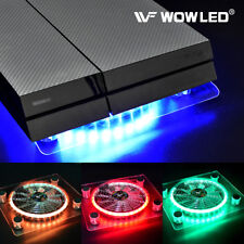 USB RGB LED Cooling Cooler Fan Pad Stand for PS4 Playstation Laptop Notebook Pad
