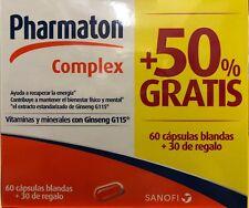 Pharmaton Complex - VItamins and Minerals Ginseng 60 Caps + 30 Caps FREE