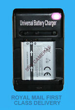 Nikon En-El19 En-El12 Olympus Li-50B Li-42B Universal Camera Battery Charger