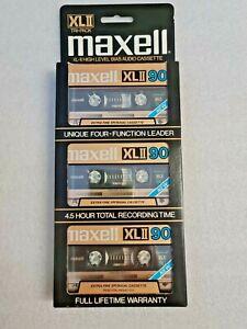 Maxell XLII 90 3Pack Cassette Tape (Sealed)