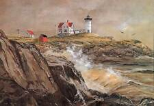 Nubble Lighthouse, Maine - Artistic greeting cards by Jean McLean - 5 x 7