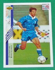 FOOTBALL CARD UPPER DECK 1994 USA 94 EFSTRATIOS APOSTOLAKIS GRECE GREECE HELLAS