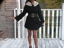 Black Persian Lamb & gray sapphire mink fur Coat Jacket Stroller M