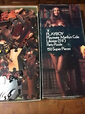 """Vintage Playboy Playmate Marilyn Cole Lifesize 5'6"""" Party Jigsaw Puzzle 150 Pc"""