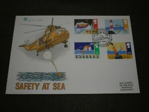 1985 GB Stamps SAFETY AT SEA First Day Cover MARITIME MUSEUM GREENWICH Cancel
