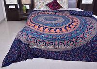 Indian Elephant Bedspread Queen Bed sheet Mandala Tapestry Hippie Blanket Throw