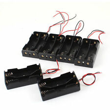 Case  Type  6 Pcs  Black  Battery  Holder  Box  18650  Plastic  2 x3.7V