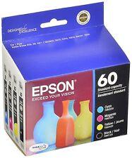 Epson Genuine 60 (T0601-T0604) B,C,M,Y 4-PK of Ink In Bags Stylus C68 C88 C88+