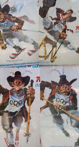 VTG LOT 4 Posters 1976 Innsbruck Winter Olympics Skiing ORIGINAL Walter Potsch ⛷