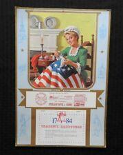 1776-1976 Overland Hotel & Casino Betsy Ross Nähen Flagge Groß Kalender Schöne