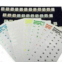 Russische transparente Aufkleber Wasserdicht für PC Laptop Tablette-Tastatu