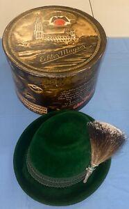 BAVARIAN Green FUR FELT ECHTER MAYSER HAT Austrian w / Box