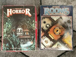 D&D dungeons rooms & Halls of Horror Gothic Floor Plans sets 1986 GW rpg