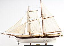 "Lynx America's Privateer Tall Ship 34"" Built Handmade Wood Model Boat Assembled"