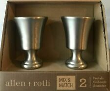ALLEN + ROTH Curtain Rod Finials Brushed Pewter 0773157 2 Pack Set Mix & Match