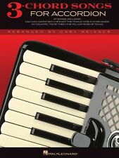 3-Chord Songs for Accordion Accordion Book NEW 000312104