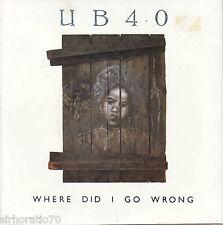 UB40 Where Did I Go Wrong / Instrumental 45