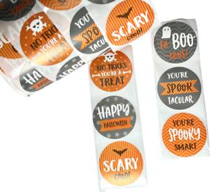 40PCS Halloween Sticker Trick or Treat Sticker Halloween Party Bag Seal 6styles