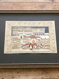 Indo- Persian Antique Islamic watercolour painting #3