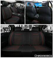 Negro Tejido Rojo Juego Completo Cubiertas para Asientos Land Range Rover