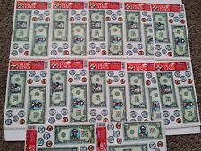 Lot of 12 Sets: Fake Money Window Static Clings for Education/Classroom or Play
