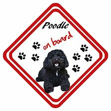 Poodle On Board Car Sign Have It Your Way Any Design