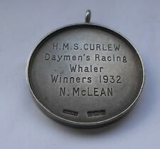 HMS curlew daymans RACING Whaler vincitori ARGENTO CANOTTAGGIO MEDAGLIA n McLean