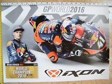 BRAD BINDER KTM MOTO3 WORLD CHAMPION 2016 IXON ARAI KTM RED BULL TEAM AJO VR46