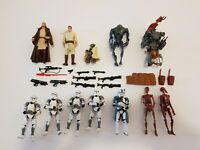 "Hasbro Star Wars 3.75"" Action Figure lot of 12 figures 1999-2005"