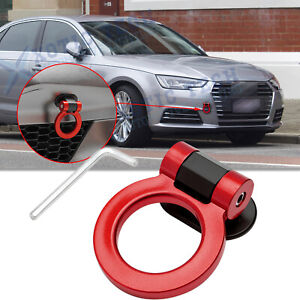 ABS JDM Customized Red Track Racing Style Dummy Tow Hook Ring Decor For Audi A4