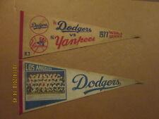 MLB Los Angeles Dodgers Vintage 1977 World Series & 1978 Team Photo Pennants