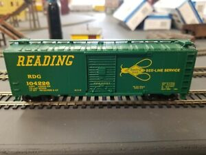 "Bachmann Silver Series #17010 HO ""Reading Bee Line"" 40' Box Car"