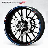 GSX650F motorcycle wheel decals rim stickers Laminated for suzuki gsxf 650 F