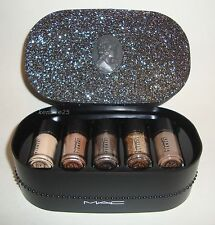 MAC PIGMENT+GLITTER OBJECTS OF AFFECTION GOLD+BEIGE 5 PIECE SET LTD ED HOLIDAY
