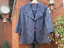 Boden 'Lola' Navy Cropped Wool Blend Jacket Size 8