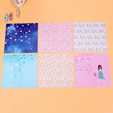 72 Sheets Floral Square Folding Crane Origami Chiyogami Craft Lucky Wish Paper Z