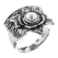 FAIR TRADE WHITE BIWA PEARL 925 STERLING SILVER SZ 7 ring
