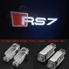 Audi RS7 2X LED Light HD Logo Projector Emblem Ghost Shadow Door Welcome Lights