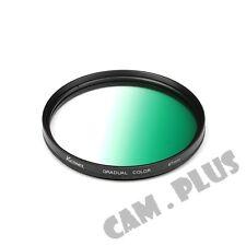 67mm Diameter Optical Gradual Green Lens Filter For Sony Pentax Canon Nikon Fuji