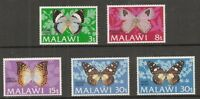 Album Treasures Malawi Scott # 199-203  Butterflies  Mint Lightly Hinged