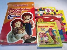 New Vintage Whitman Raggedy Ann and Andy PAPER DOLLS Activity Book Lot 4