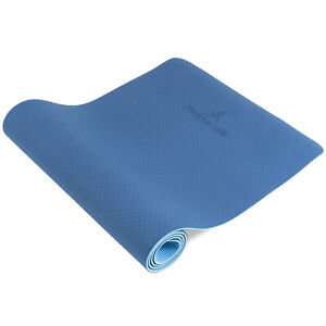 """Natura Reversible TPE Yoga Mat 1/4"""" with 2 Textured Layers for Superior Grip"""
